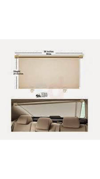 Car Rear Window Roller Sun Shades Beige